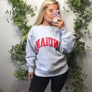 Champion reverse weave Indiana sweatshirt L